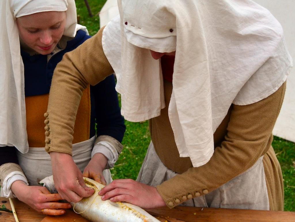 Preparing lunch at Varberg 2012