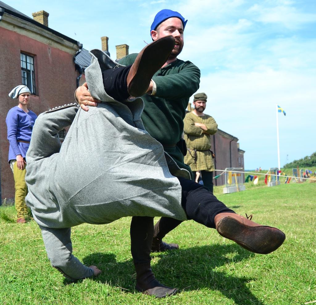 Medieval wrestling at Varberg 2012