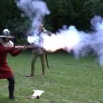 Firing the gun, Lund, 2012
