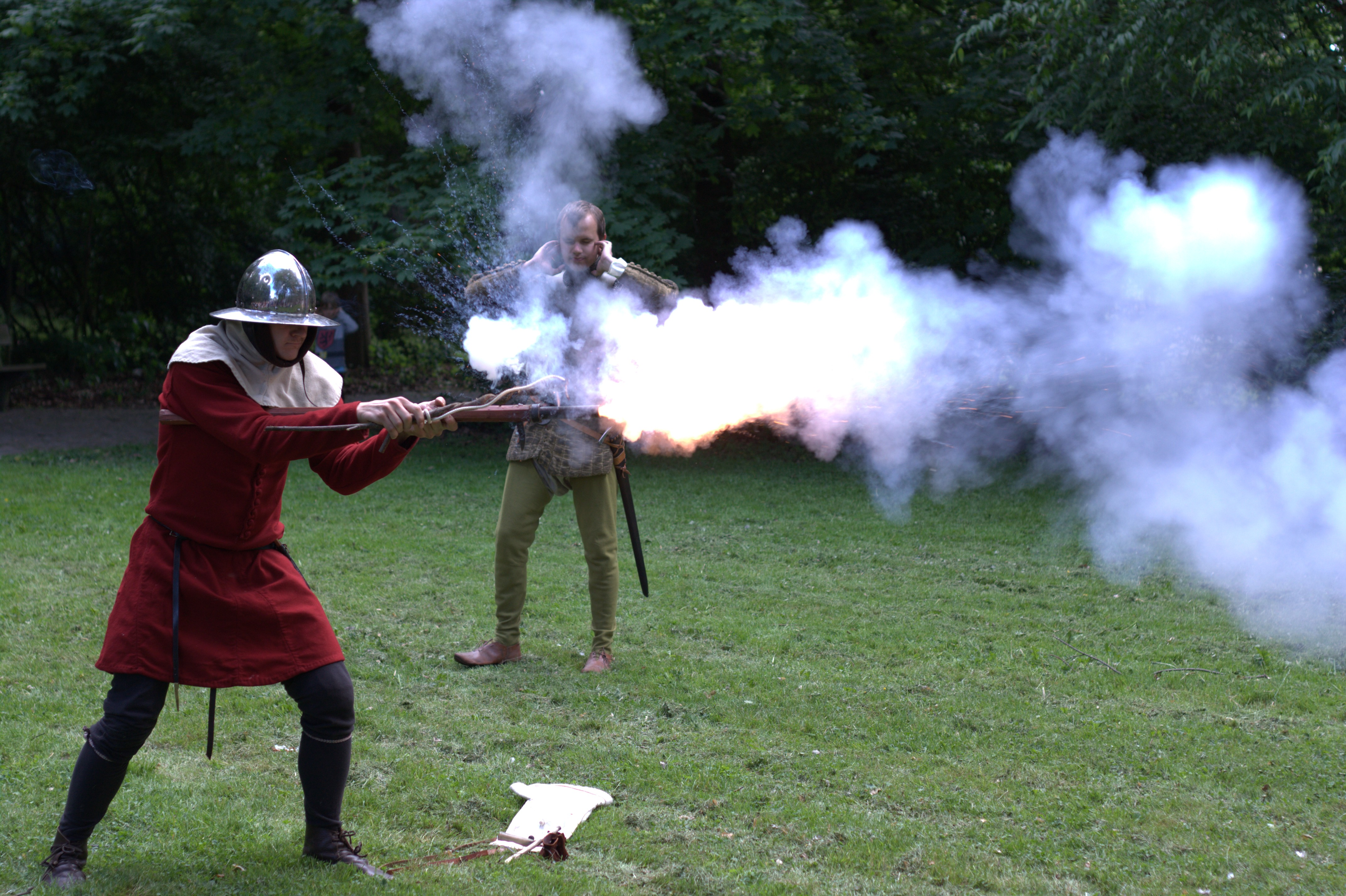 Firing the gun, Lund, 2012