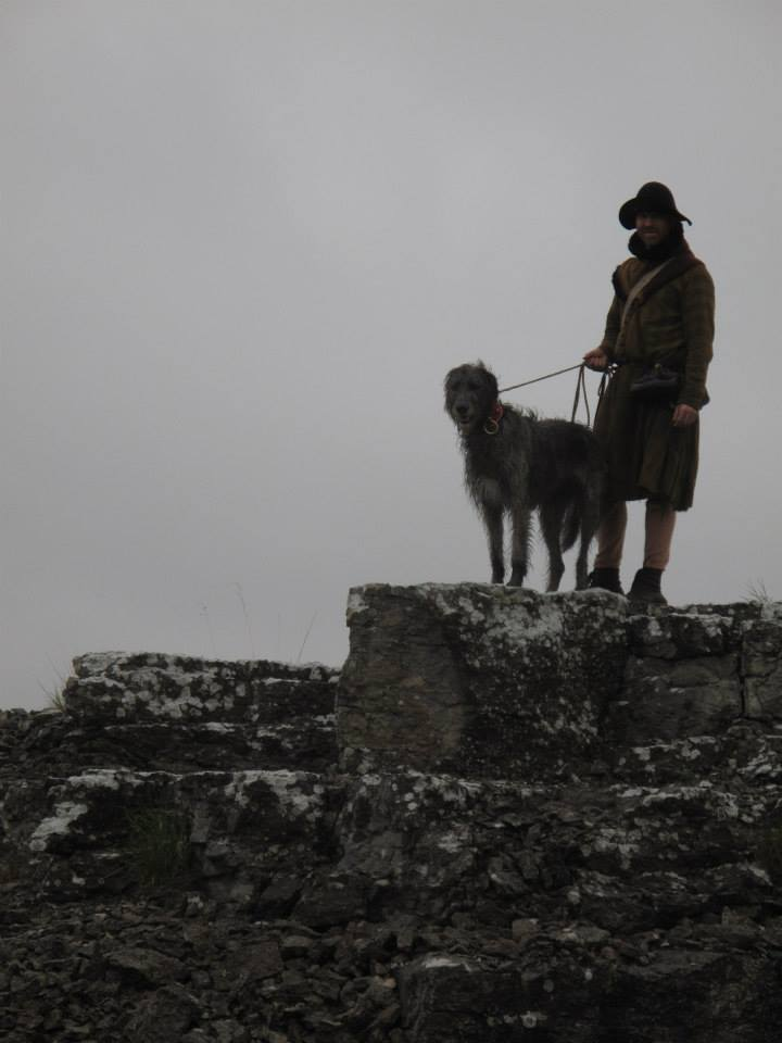 Johan and Boudica standing guard. Photo: Olivia Hansson