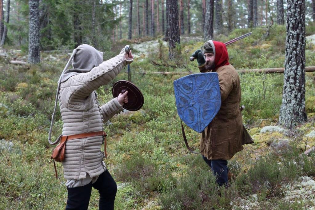 Micke och Johan, stridsträningshelg 2015