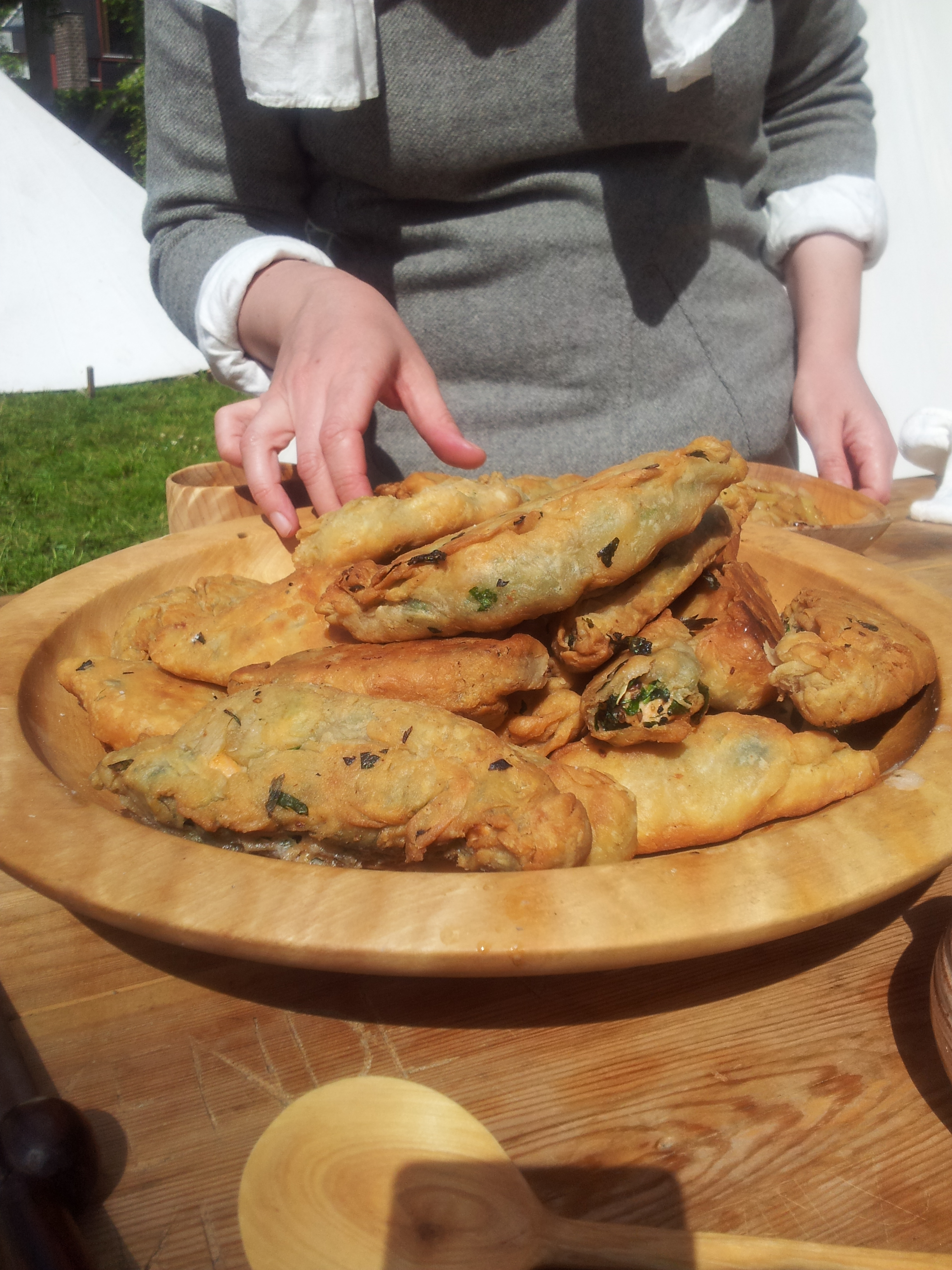 The finished salmon pasties, Lund, 2012
