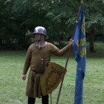 A gunner acting as a levied peasant during a display, Lund, 2012